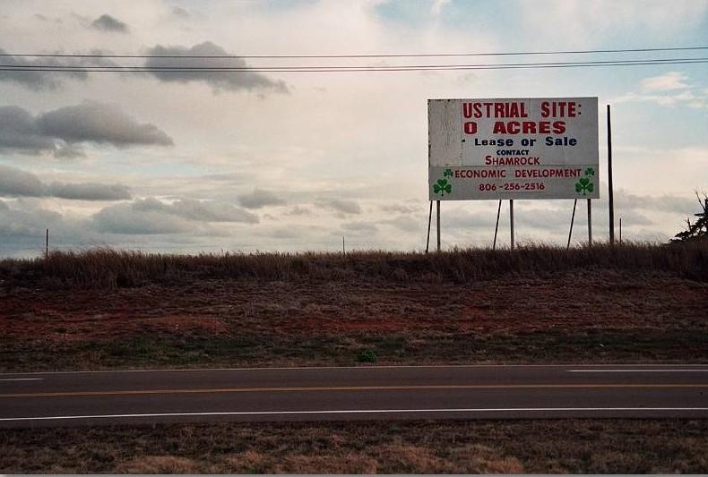 HIghway billboard, Shamrock, Texas, 2005